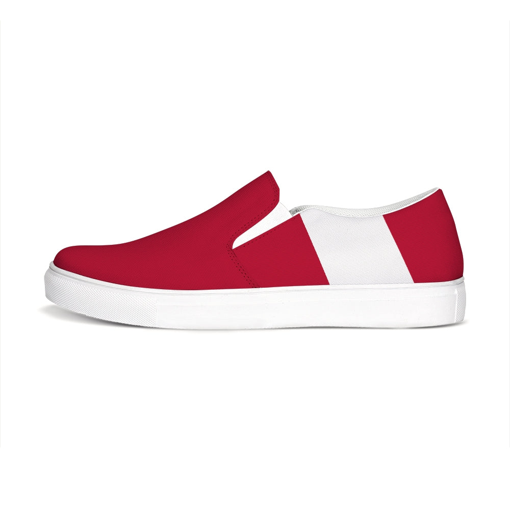 Uppsala Red-White Slip-On