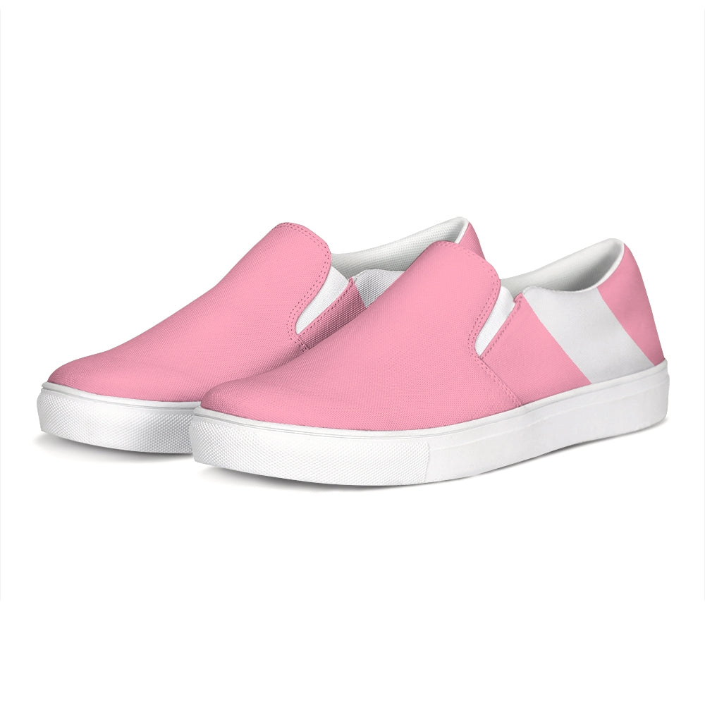 Uppsala Pink-White Slip-On