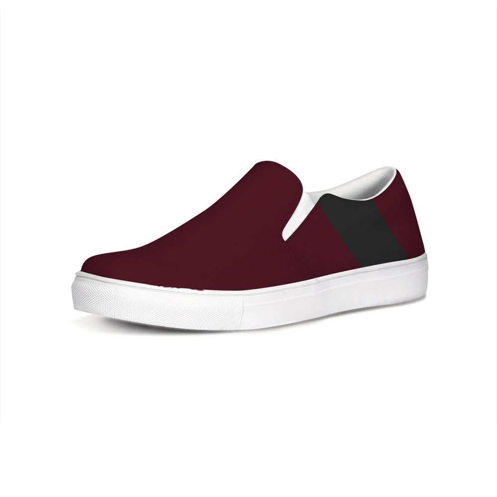 Uppsala Maroon-Black Slip-On