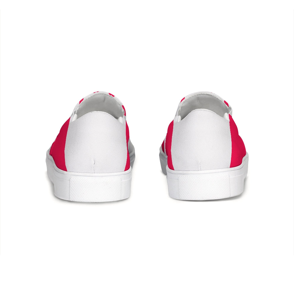 Visby White-Red Slip-On