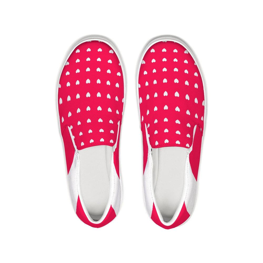Visby Red-White Slip-On