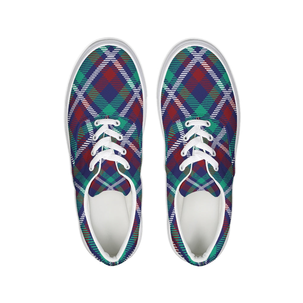 Trondheim Green-Blue Lace-Up