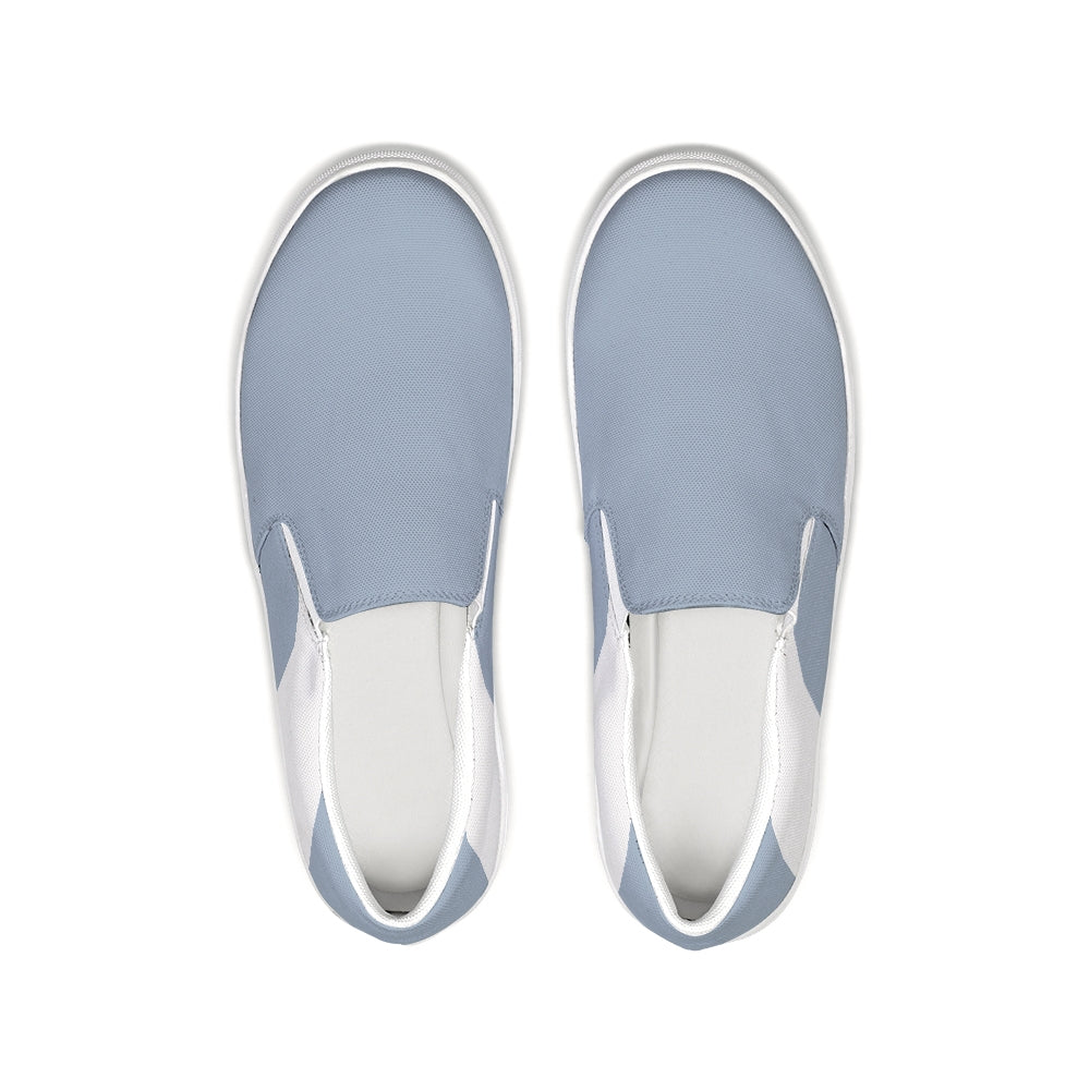 Uppsala Denim Blue-White Slip-On