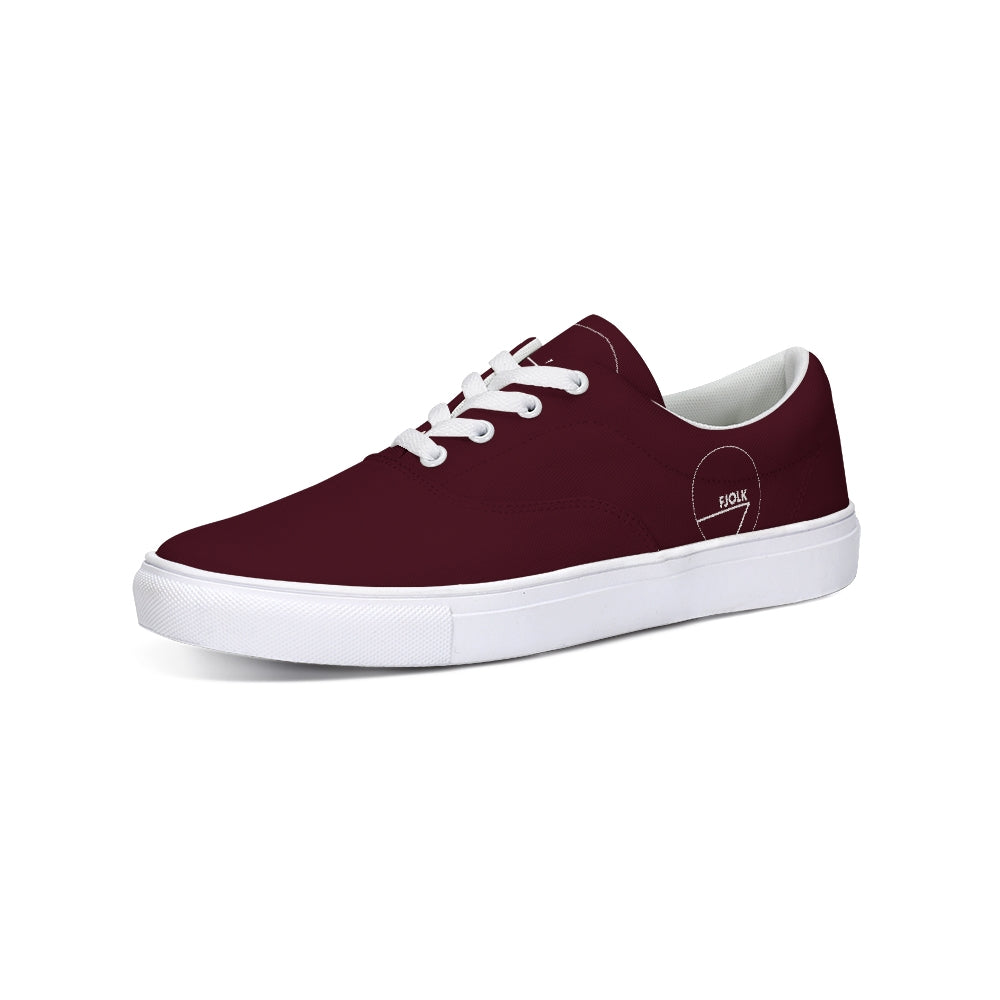Classic Maroon Lace-Up