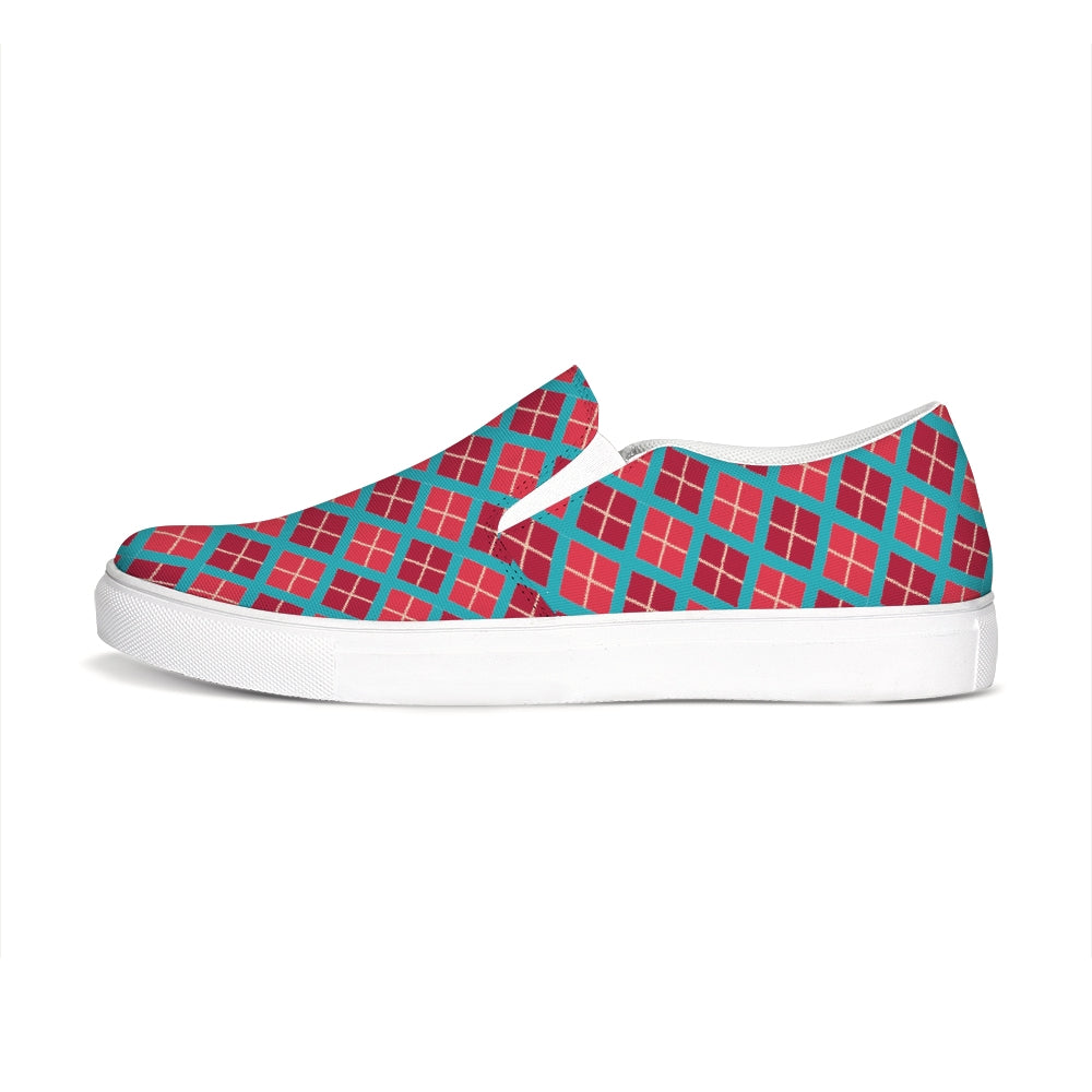 Stavanger Red-Green Slip-On
