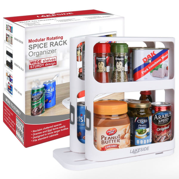 LAKESIDE™ Modular Rotating Spice Rack Organizer