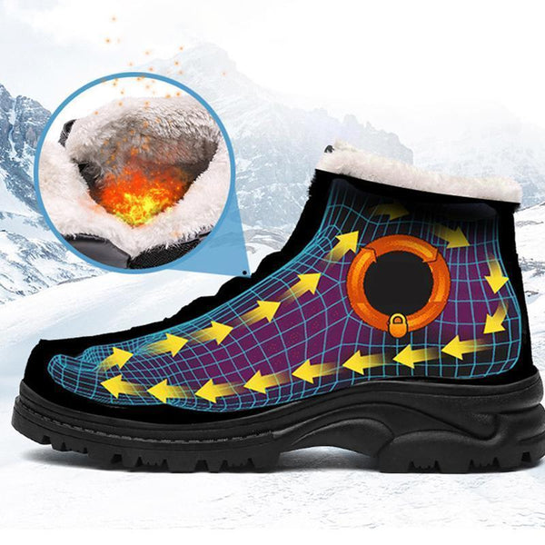 Unisex Snow Boots Winter Ankle Bootie