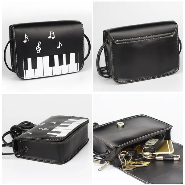 Piano Keys Music Note Shoulder Bag