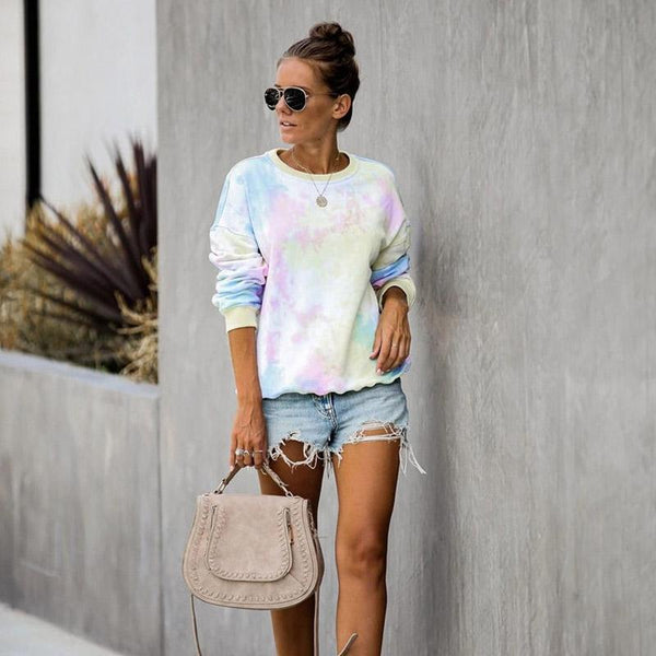 Tie-dye Crew Neck Long Sleeve T-Shirt