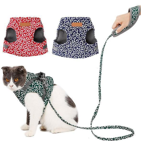 【50% OFF TODAY】Cat Vest Harness and Leash Set to Outdoor Walking
