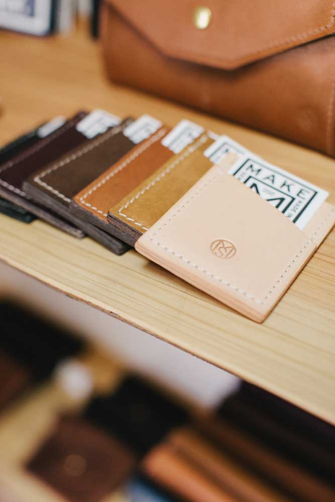 Credit Card Sleeve Make Smith Leather