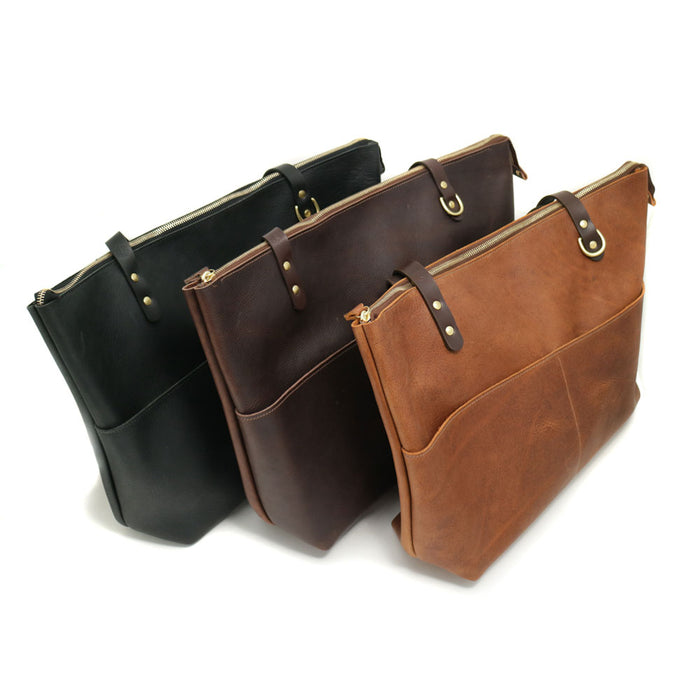 Tan, Brown and Black Totes