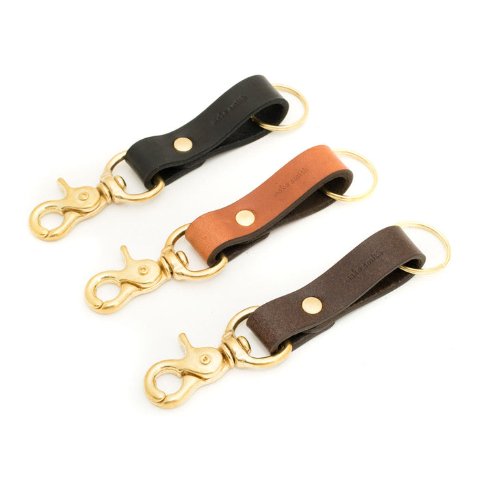 Leather Key Chain with Clip
