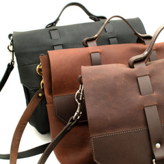 Front to back:  Brown, Tan and Black