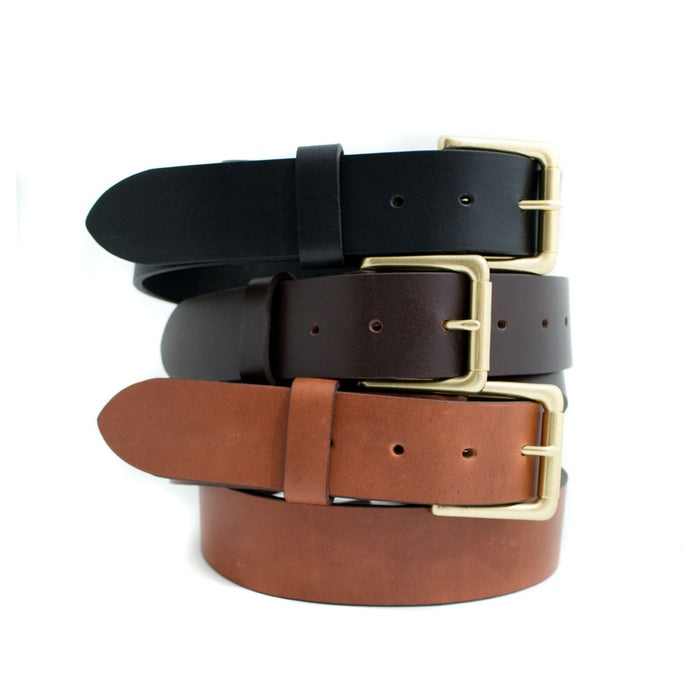 Example of a finished classic belt we have made.