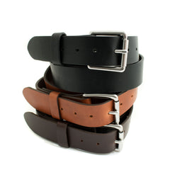 Classic Leather Belt - Steel Hardware