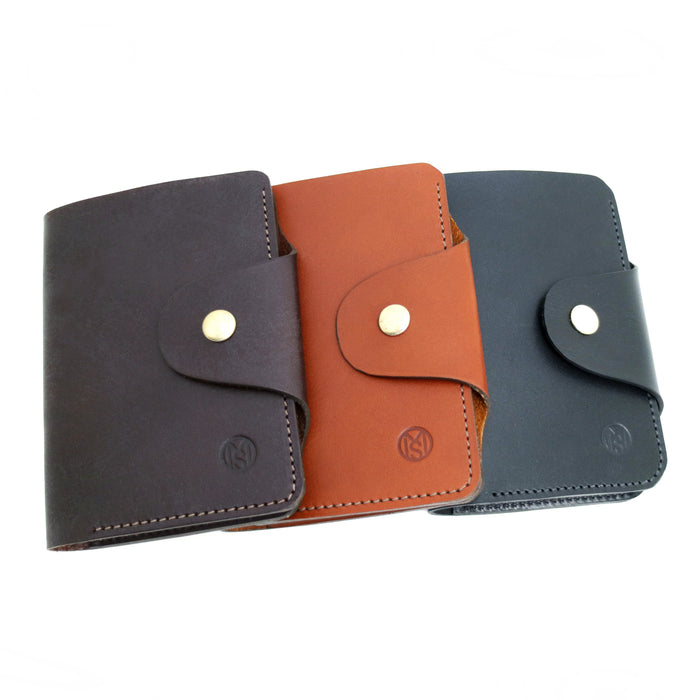 Tan, Brown, Black Latigo Leather US passport wallet
