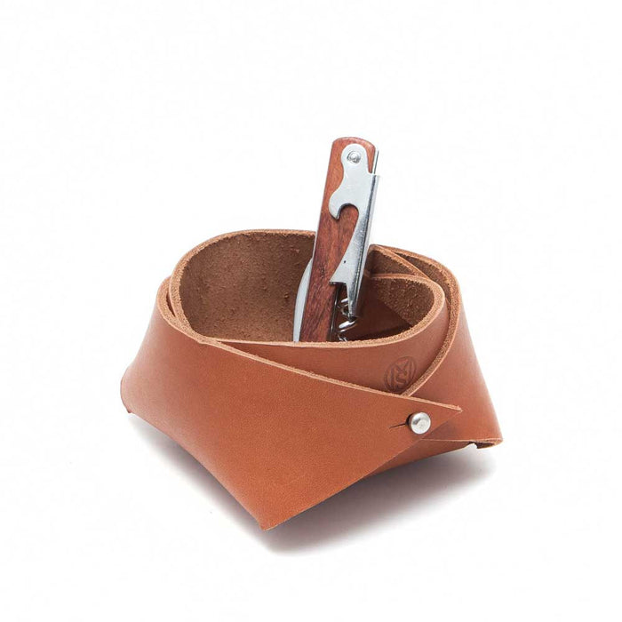 Leather Storage Caddy - Medium