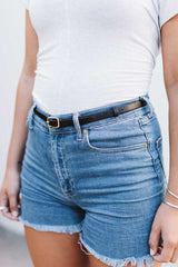 Women's Skinny High Waist Belt