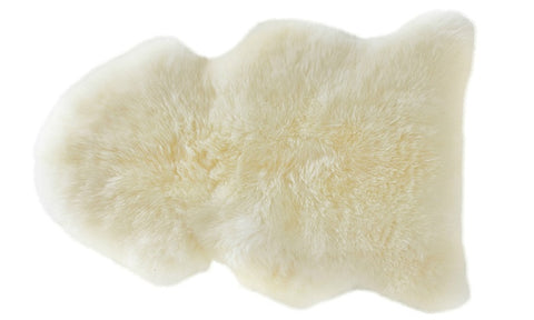 Sheepskin Rug or Furniture Throw - Ivory