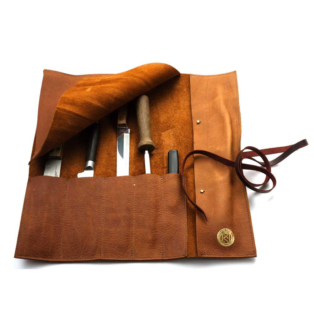 b6550111112 Leather Knife Roll