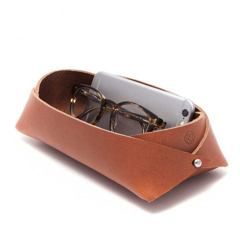 Leather Storage Caddy - Large