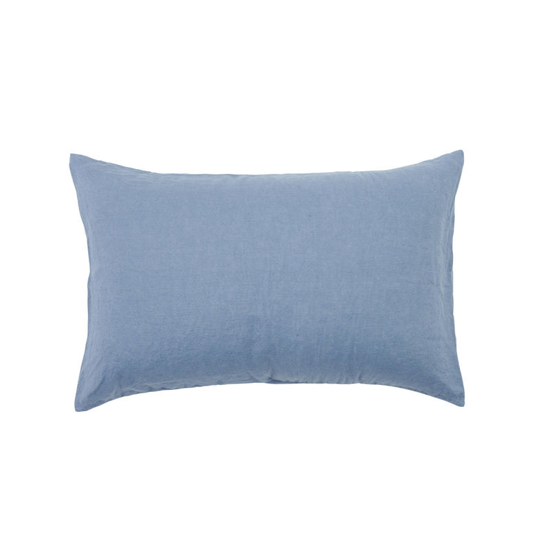 SOCIETY OF WANDERERS Standard Pillowcase Set moody blue