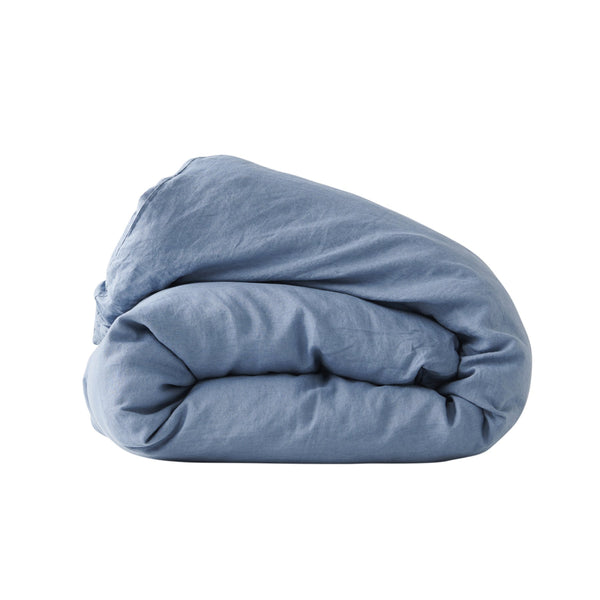 SOCIETY OF WANDERERS Queen Duvet Cover moody blue