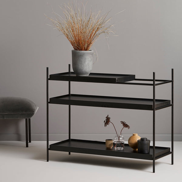 WOUD Tray Shelf Low - Black