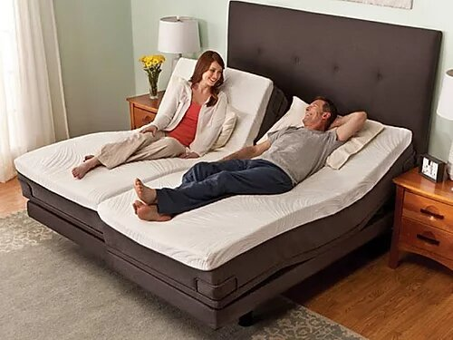 SpringWall Whisper II Split King Adjustable Bed