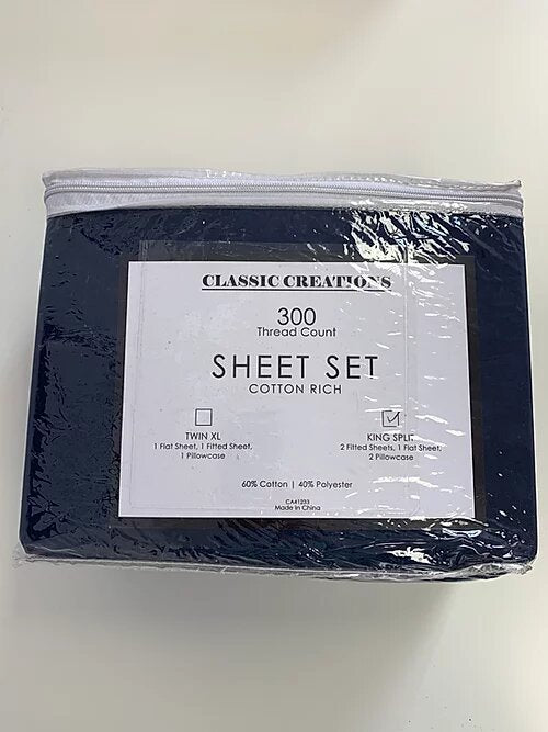 Navy Blue Split Sheet Sets