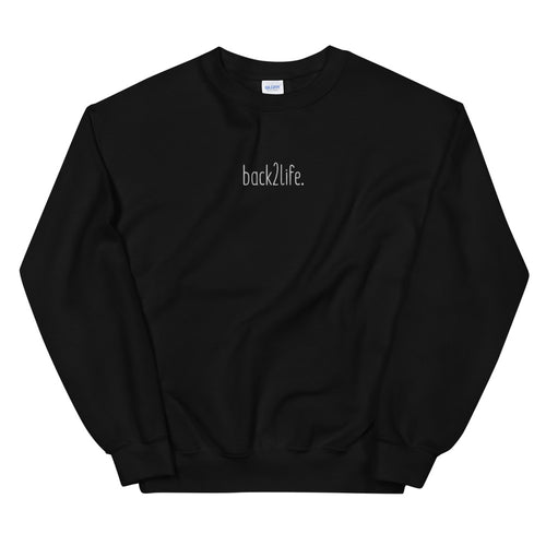 back2life lowercase EMBROIDERED Crewneck