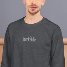 Load image into Gallery viewer, back2life. Embroidered Crewneck
