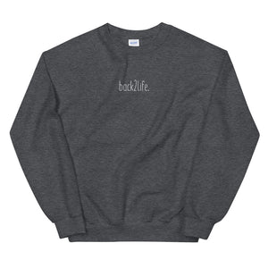 back2life. Embroidered Crewneck