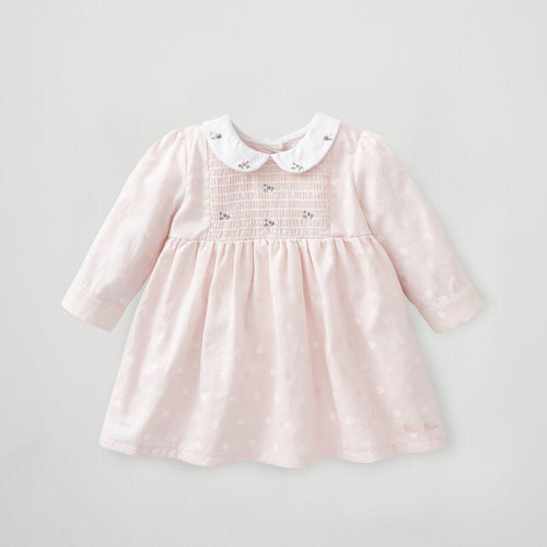 Silver Cross Embroidered smock dress (0-3 months)