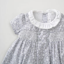 Load image into Gallery viewer, Silver Cross floral smock dress (0-3 months)