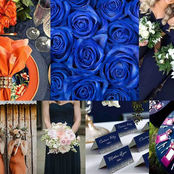 Blue Wedding Color Combinations Ideas - Milena Bouquet