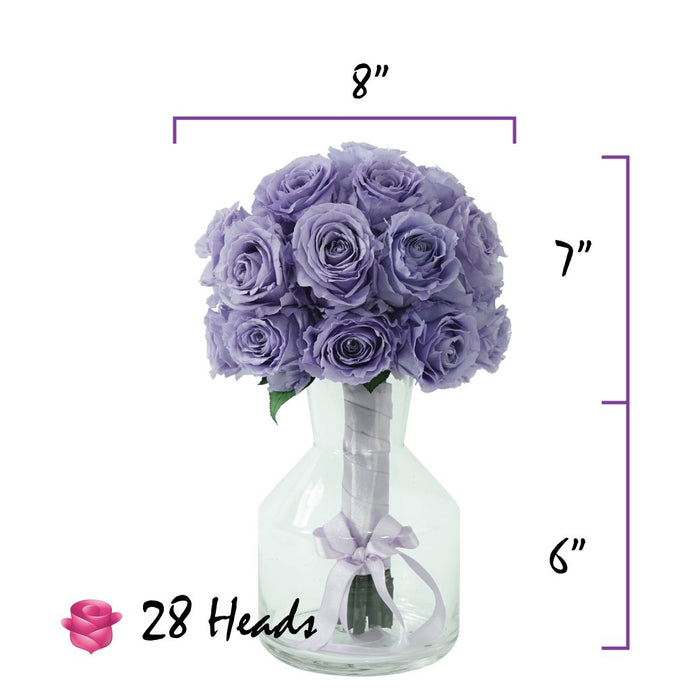 Eternal Lavender Roses Bouquet | Preserved Large Roses - Milena Bouquet