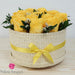 Yellow Flower Basket  | Preserved Large Roses - Milena Bouquet