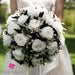 White Wedding Bouquet | Preserved Large White Roses - Milena Bouquet