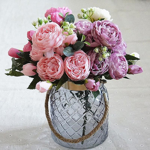 Peony Stems for Bouquet |  Artificial Silk Flowers - Milena Bouquet