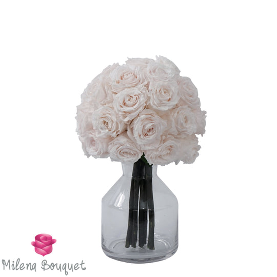 Eternal Light Pink Roses Bouquet | Preserved Large Roses - Milena Bouquet