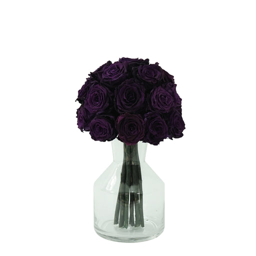 Eternal Purple Roses Bouquet | Preserved Large Roses - Milena Bouquet