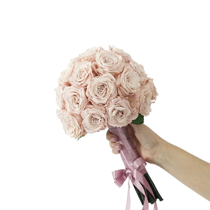 Eternal Vintage Toffee Pink Roses Bouquet | Preserved Large Roses - Milena Bouquet