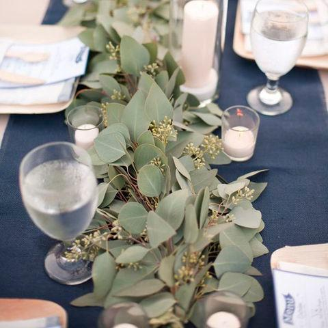 Wedding table runner - garland greenery & flowers Box -  - Milena Bouquet