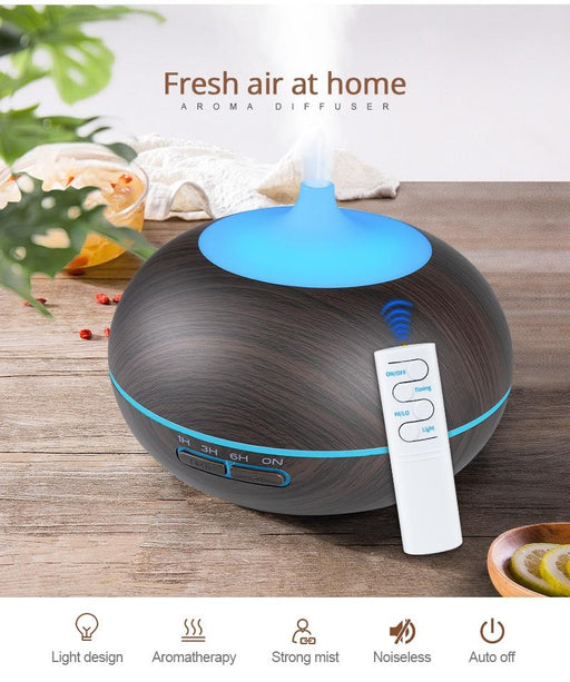 USB Air Humidifier - Aroma Diffuser - remote control - 7 LED Colors-  cool mist maker - Milena Bouquet
