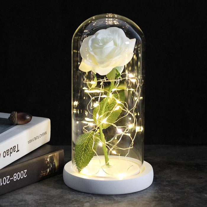 Beautiful Rose In Glass Dome, Forever Preserved Flowers - Milena Bouquet