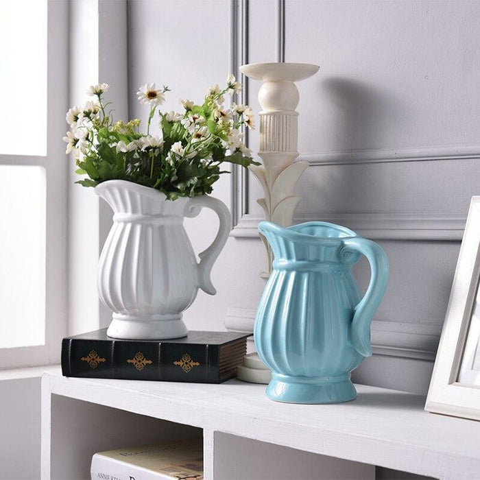 Retro kettle Ceramic Vase - Milena Bouquet