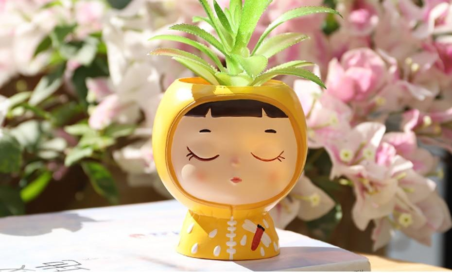 Cute Cartoon Flowerpot Planter Desktop Vase - Milena Bouquet