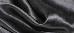 Black pure silk fabric
